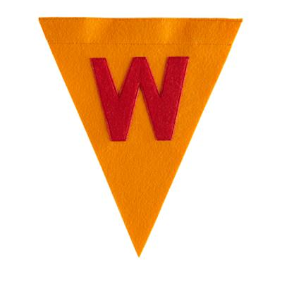 W Print Neatly Pennant Flag (Boy)