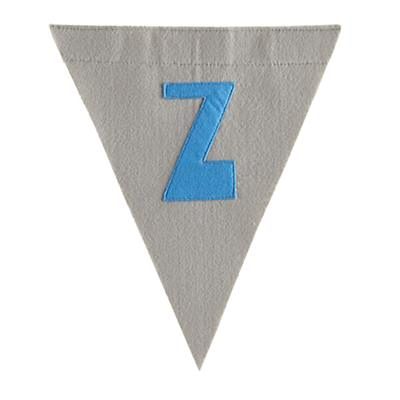 Z Print Neatly Pennant Flag (Boy)