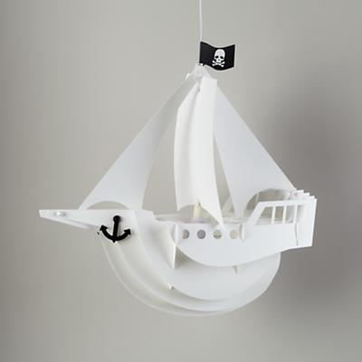 Jolly Roger Ship Lamp Shade