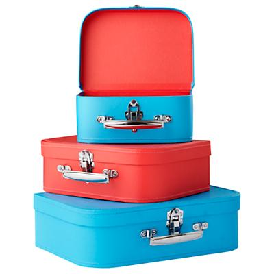 Bon Voyage Suitcase Set (Blue/Red)