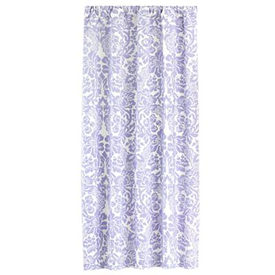 "84"" Wallpaper Floral Curtain Panel (Lavender)"