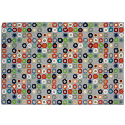 Kids Room Decor: Colorful Circles Rug - 4 x 6 Lt