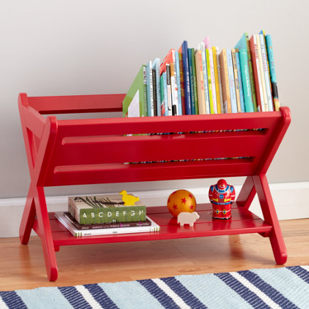 Good Read Trough Book Caddy (Red) - Red Good Read Book Caddy