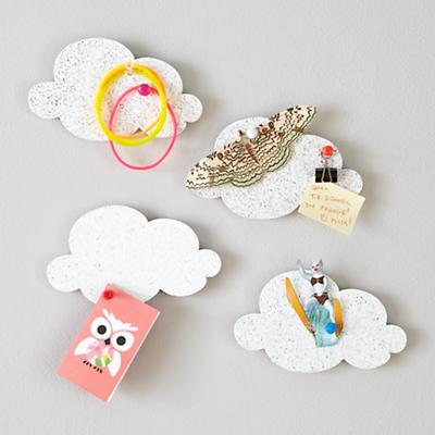 Mini Cloud Corkboards (Set of 4)