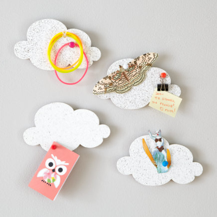 Kids Decor: Mini Cloud Shaped Corkboard - Mini Cloud CorkboardsSet of 4