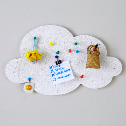 Kids Decor: Cloud Shaped Corkboard - White Cloud Corkboard
