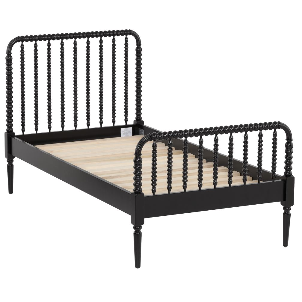 Jenny Lind Twin Bed (Black)
