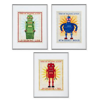 Retrobot Wall Art (Set of 3)