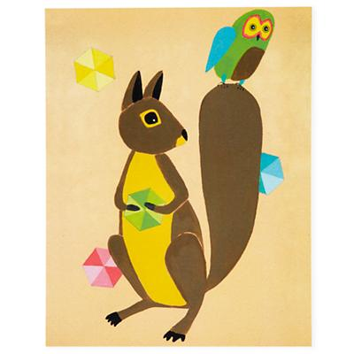 Squirrel and Owl Wall Art