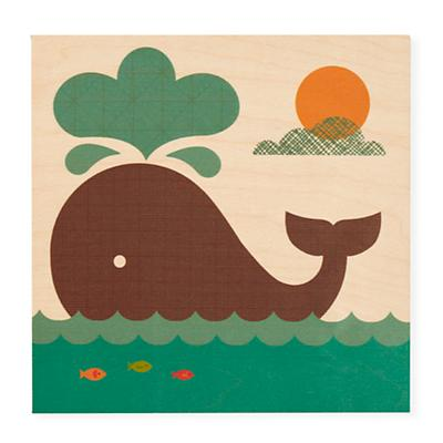 Personalized Wall Plaque (Whale)