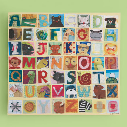 Kids' Posters, Prints & Art: Kids Maria Carluccio Animal Alphabet Collage Wall Art - Alphabet Wall Art