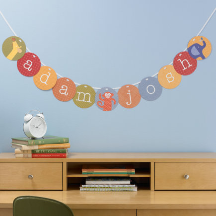 Kids Banners & Hanging Decor: Kids Alphabet Garland Kit Wall Decor - Alphabet Garland Kit