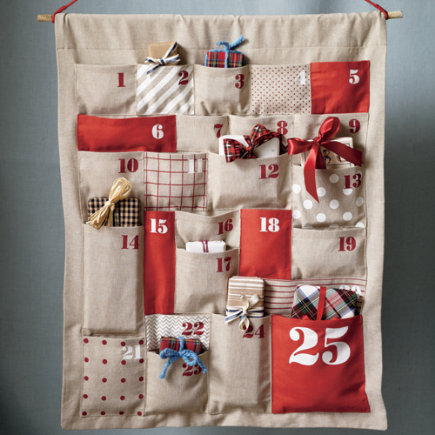Gorgeous diy advent calendars with a muffin pan kids holiday decor kids chambray christmas advent calendar all shapes advent calendar solutioingenieria Image collections