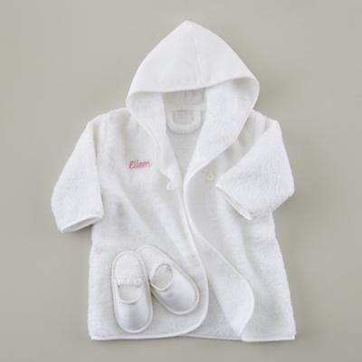 Personalized Bath Robe and Slippers Set (Pink)