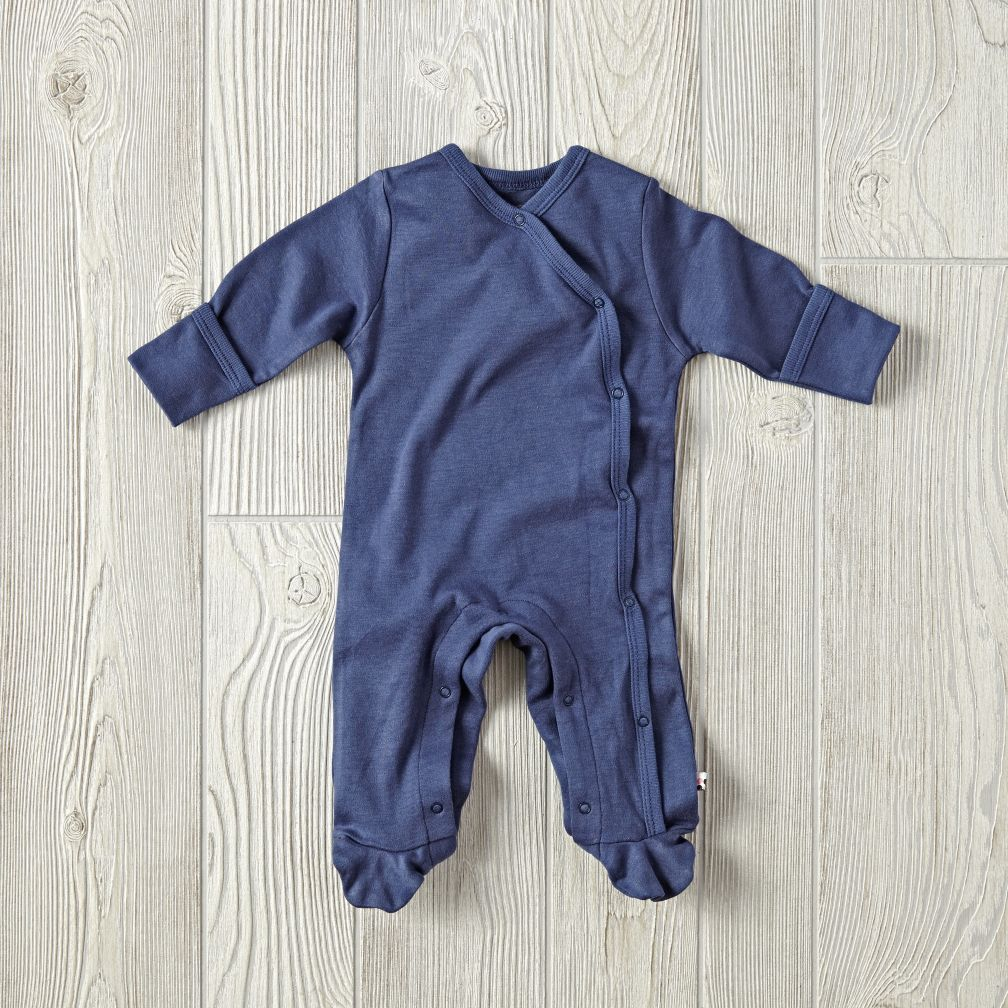 3-6 Months Babysoy Footie Pajamas (Navy)