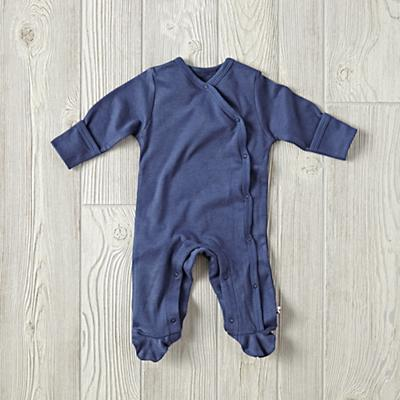 0-3 Months Babysoy Footie Pajamas (Navy)