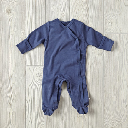 Navy 0-3 Months Babysoy Footie Pajamas