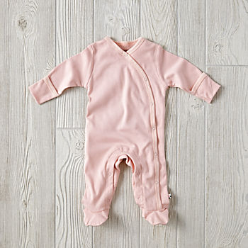 0-3 Months Babysoy Footie Pajamas (Pink)