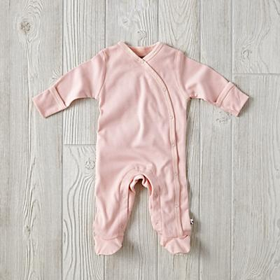 3-6 Months Babysoy Footie Pajamas (Pink)