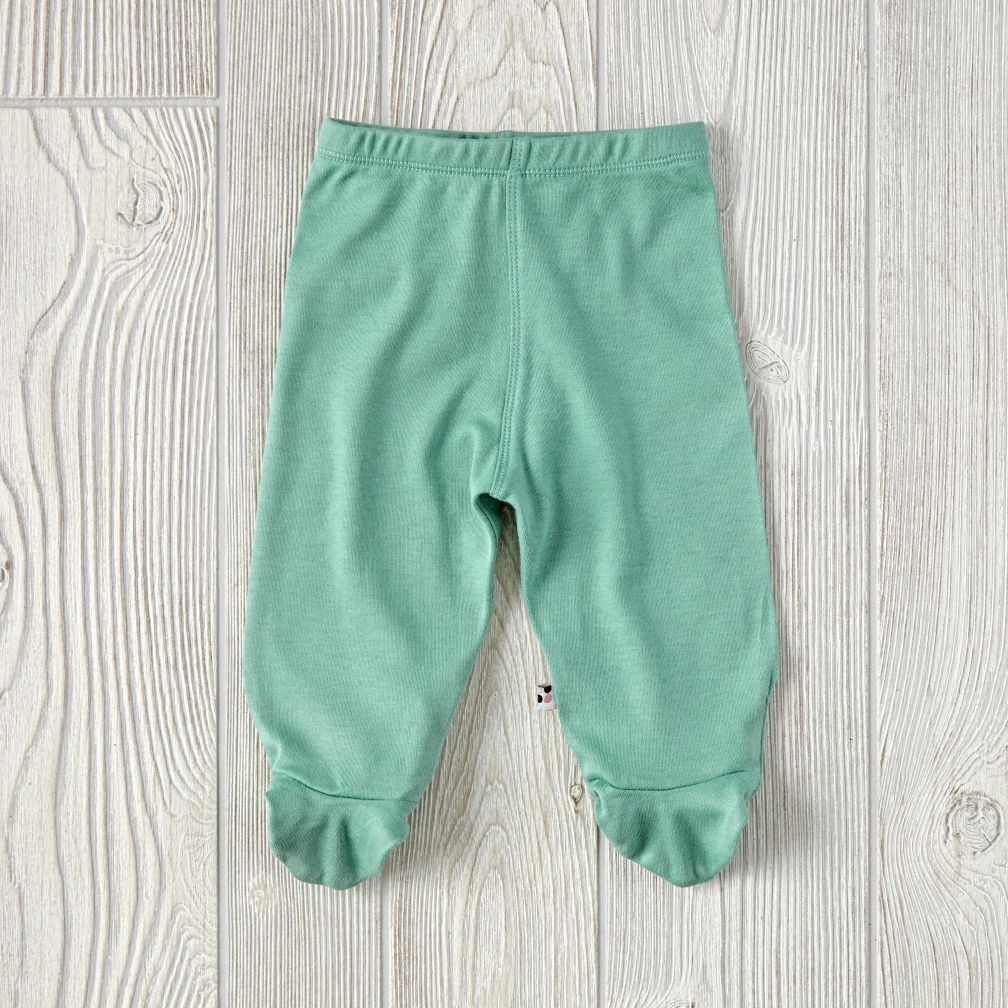0-3 Months Babysoy Footie Pants (Green)