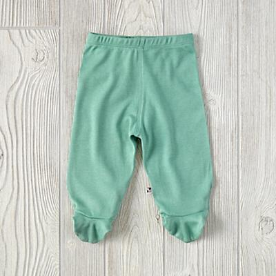 3-6 Months Babysoy Footie Pants (Green)