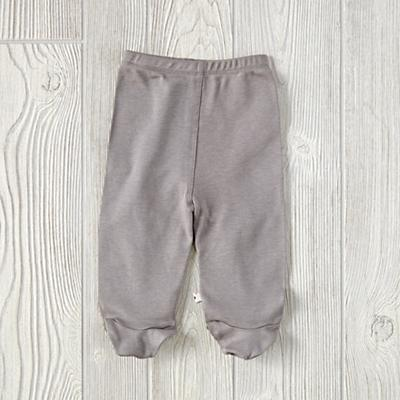 6-12 Months Babysoy Footie Pants (Grey)