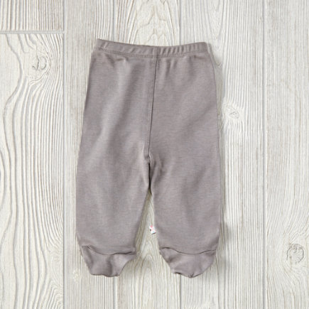 Grey 0-3 Months Babysoy Footie Pants