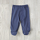 Navy 0-3 Months Babysoy Footie Pants
