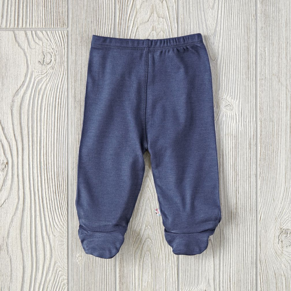Babysoy Footie Pants (Navy)