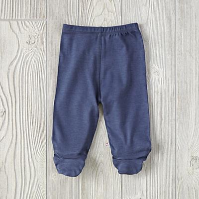6-12 Months Babysoy Footie Pants (Navy)