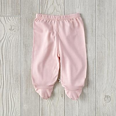 0-3 Months Babysoy Footie Pants (Pink)