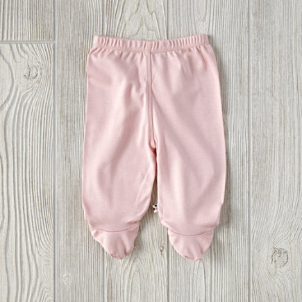 Pink 0-3 Month Babysoy Footie Pants