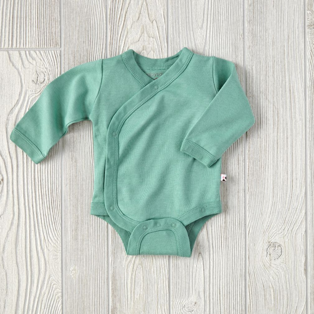 3-6 Months Babysoy One-Piece (Green)