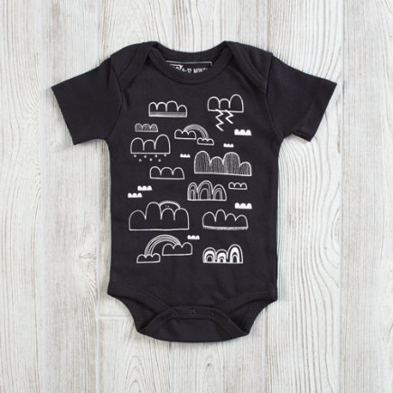 Earth Cadets One-Piece Clouds - 3-6 Month Earth Cadets Clouds One-Piece