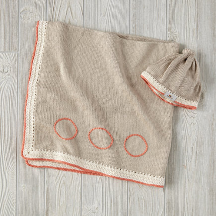 Taupe and Coral Haiti Babi Gift Set