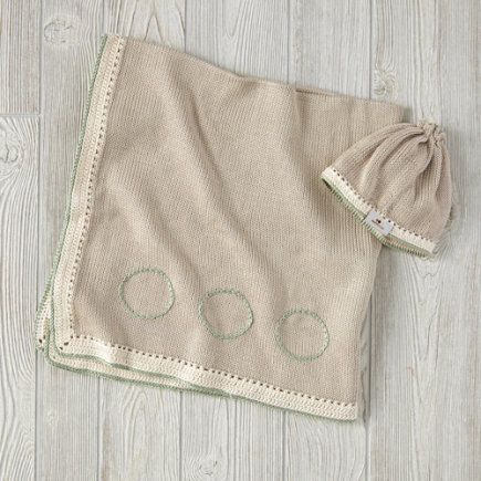 Taupe and Light Green Haiti Babi Gift Set