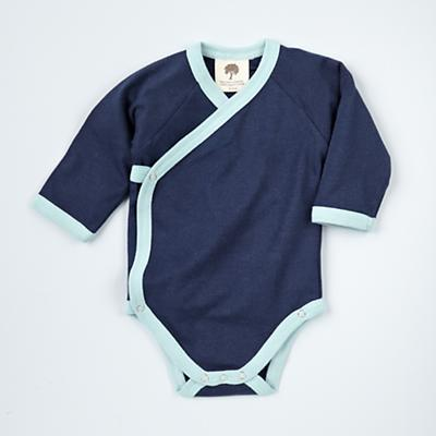 0-3 mos. Blue Long Sleeve Snapsuit