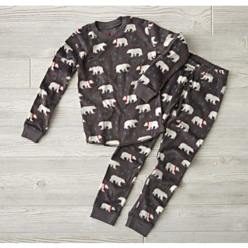Polar Bear Fleece Pajamas (2T)