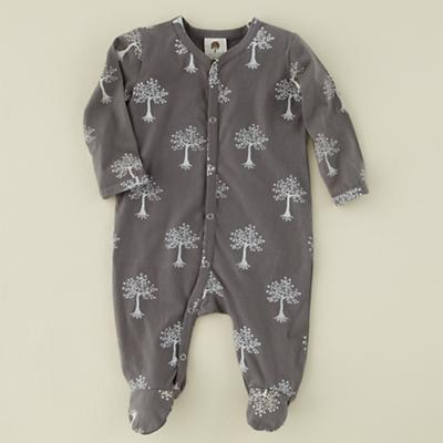 0-3 mos. Grey Trees Long Sleeve Footie
