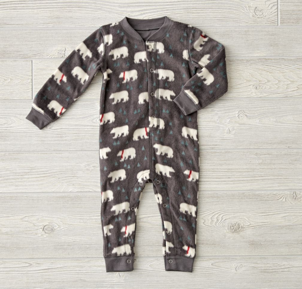 Polar Bear Fleece Romper
