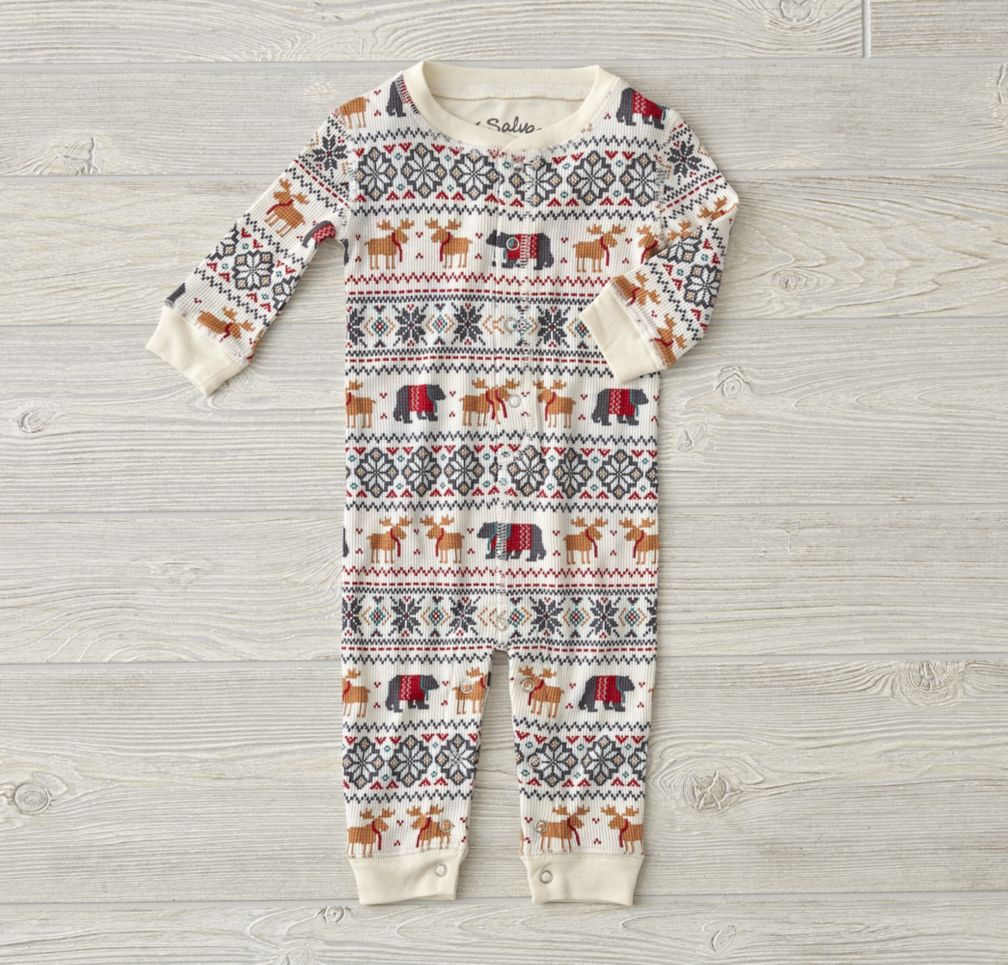 Moose Thermal Romper (6-12 Months)