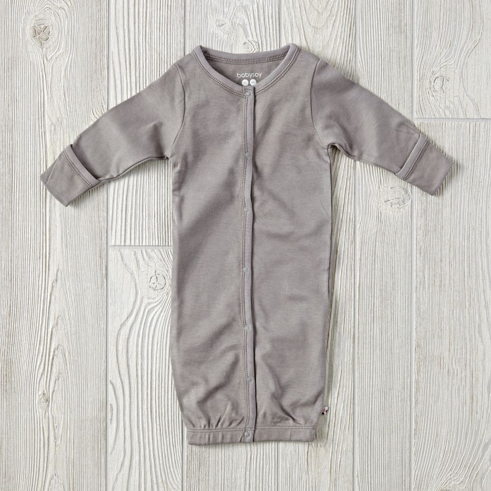 0-3 Months Babysoy Sleep Sack (Grey)