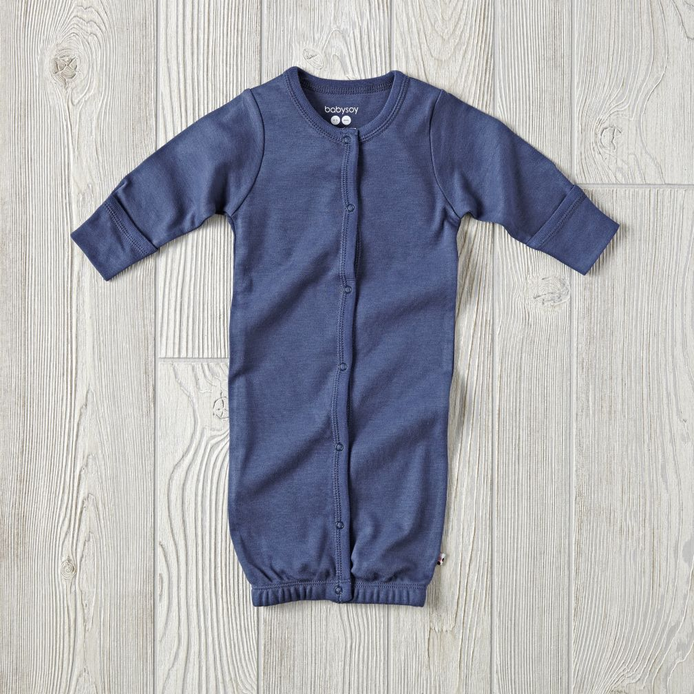 Babysoy Navy Gown (0-3 Months)