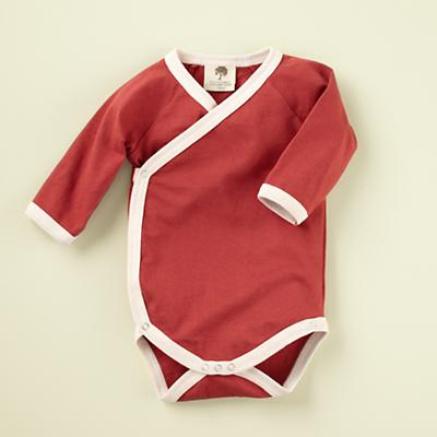 6-12 mos. Red Long Sleeve Snapsuit
