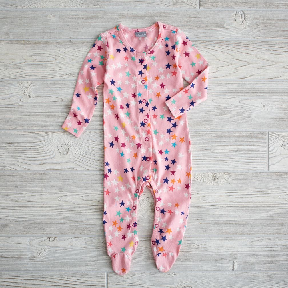 6-12 Month Superstar Footie (Pink)