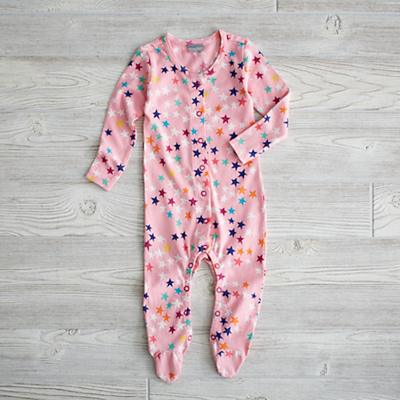 3-6 Month Superstar Footie (Pink)