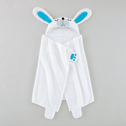 Personalized Bunny Hooded White Towel