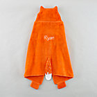 Personalized Orange Fox Hooded Towel