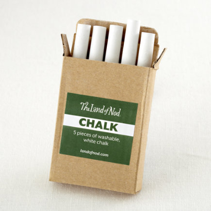 Kids Chalkboards: Kids White Chalk for Chalkboard - White Chalk Set of 5 Pieces