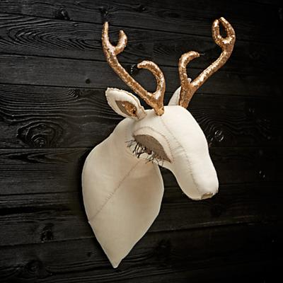 Gold Deer Head